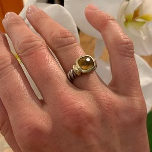 David Yurman Cable Noblesse Ring in Citrine - Sz 6